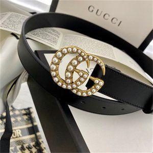 🌟NWT Fashion Pearl Belt 80CM By Gucci